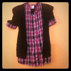 Other - Button down shirt with attached sweater. Size 5